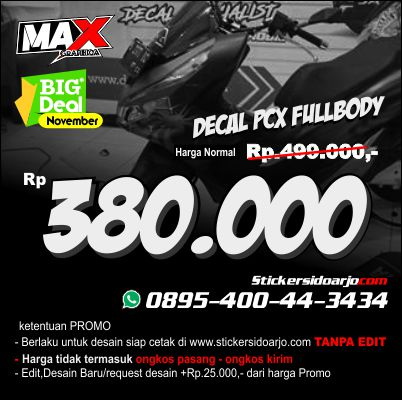 promo harga sticker decal PCX