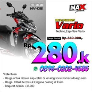 decal vario maxgraphica cutting sticker sidoarjo