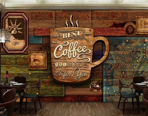 Background dinding cafe